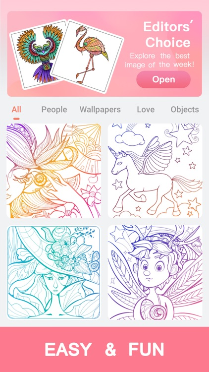 Coloraxy - Coloring Art Game screenshot-3