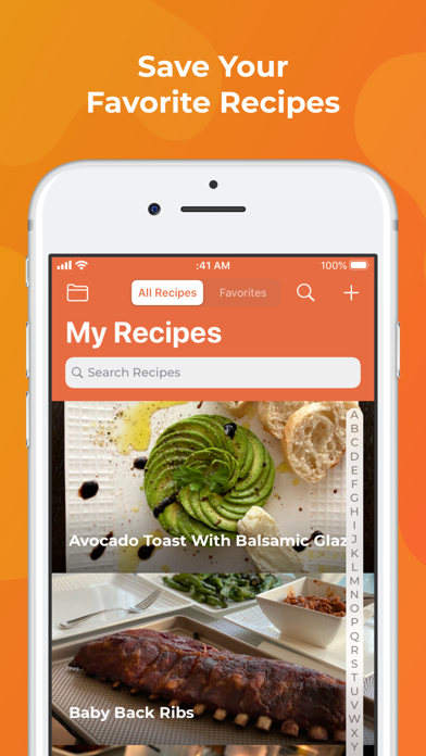RecipeBox - Save Your Recipes! Screenshot