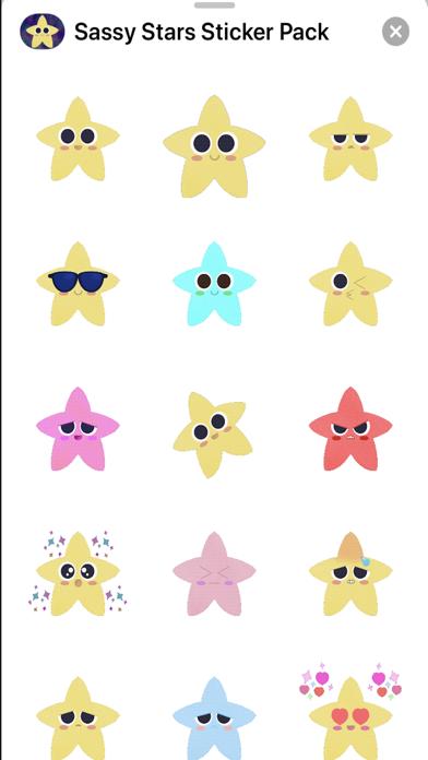 Sassy Stars Sticker Pack screenshot 2