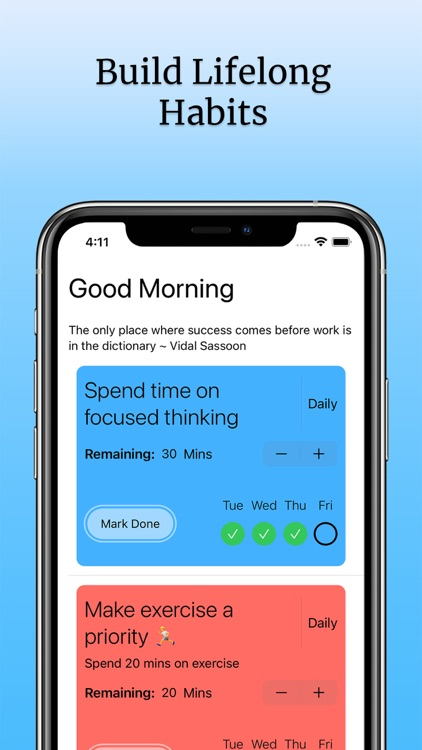 Daily Habit Planner & Tracker