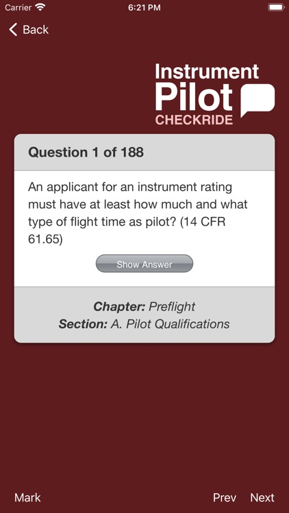 Instrument Pilot Checkride