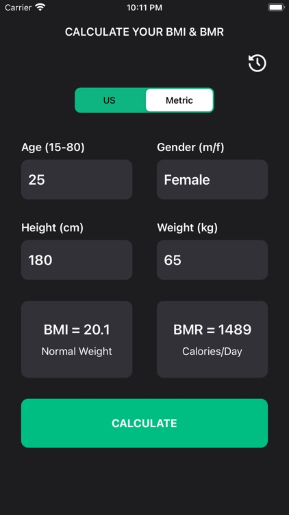 BMI Calculator + BMR screenshot-1