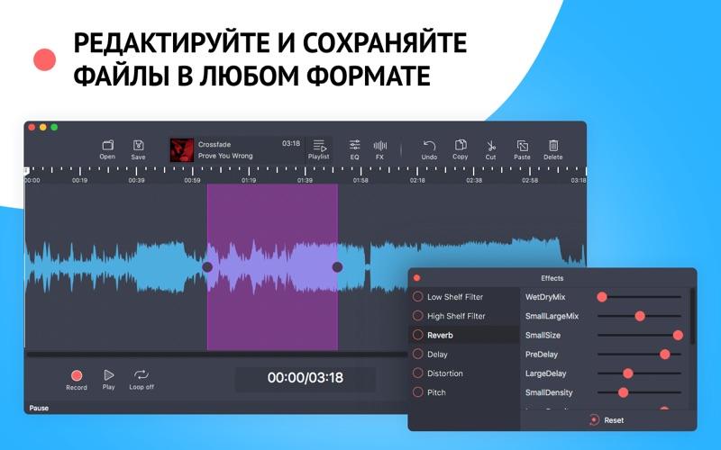 Аудиоредактор: Обработка звука скриншот программы 1