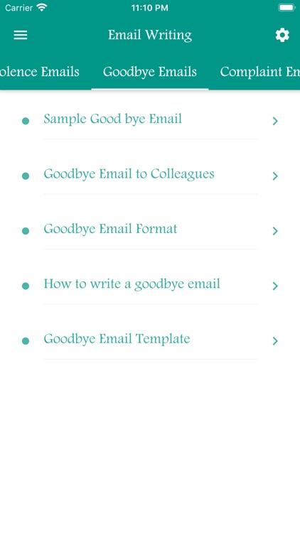 Email Writing Templates screenshot-8