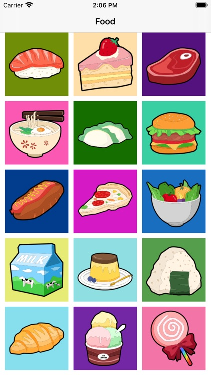Food Expression Cartoon