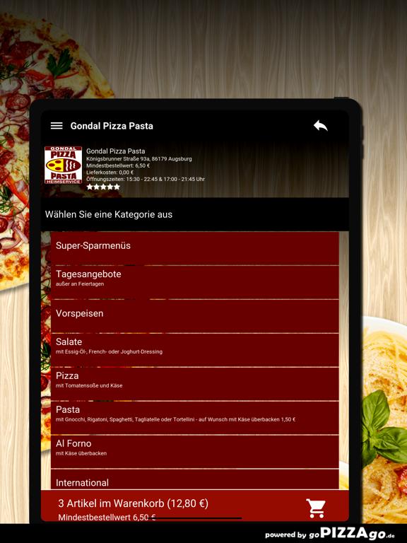 Gondal Pizza Pasta Augsburg screenshot 8