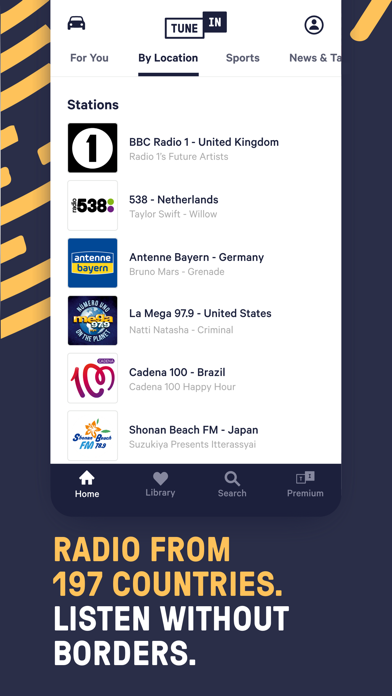 TuneIn Pro - Radio & Sports Screenshot