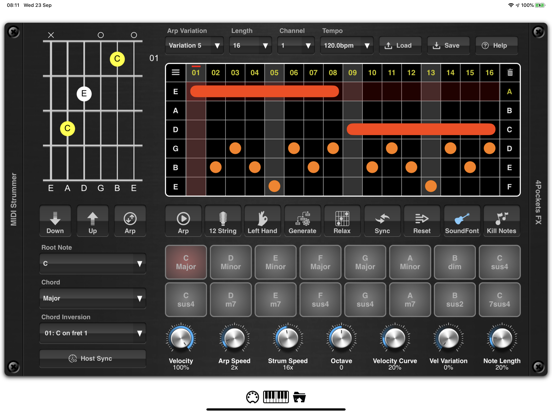 MIDI Strummer AUv3 Plugin screenshot 5