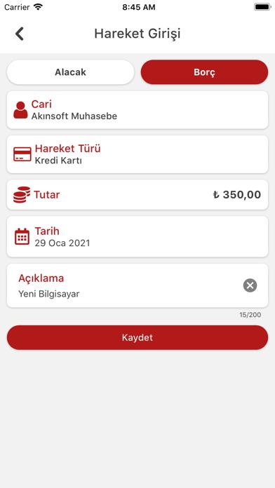 AKINSOFT Cari Takip Screenshot