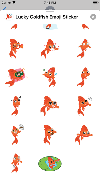 Lucky Goldfish Emoji Sticker screenshot 4