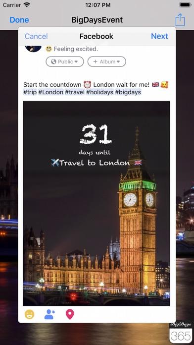 Big Days Pro Events Countdown Screenshots