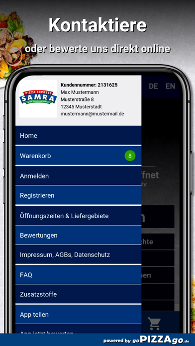 Samra Pizza Walddorfhäslach screenshot 3