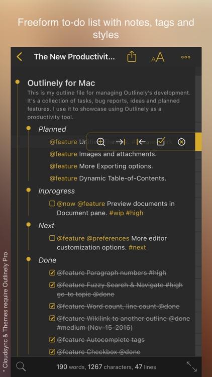 Outlinely - Outliner & notes screenshot-4