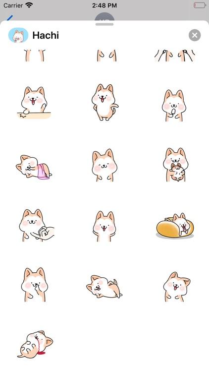 Hachi:Akita Dog Animated Emoji screenshot-4