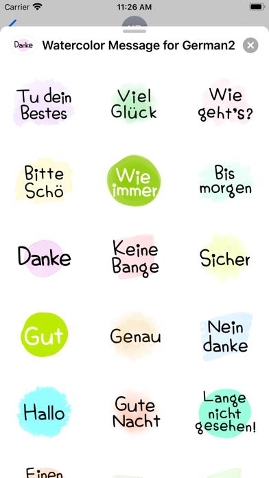 Watercolor Message for German2 screenshot 3