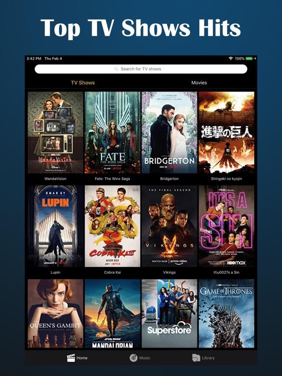 iPad Image of Movcy - Movies, Shows, Music