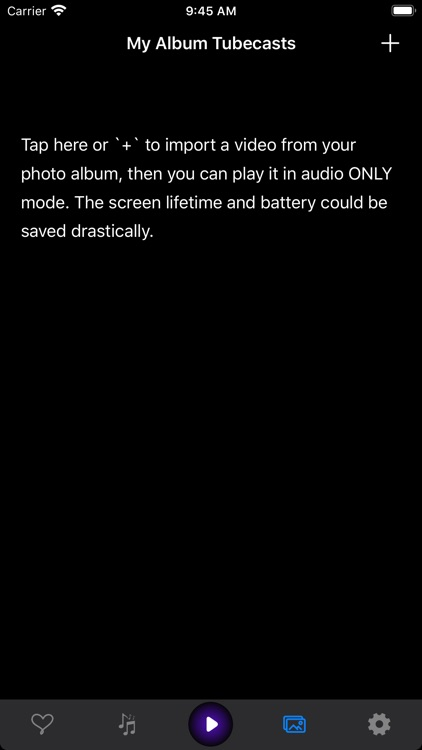 Tubecasts - Audio only player screenshot-3
