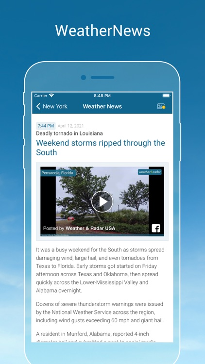Weather & Radar - Storm alerts screenshot-5