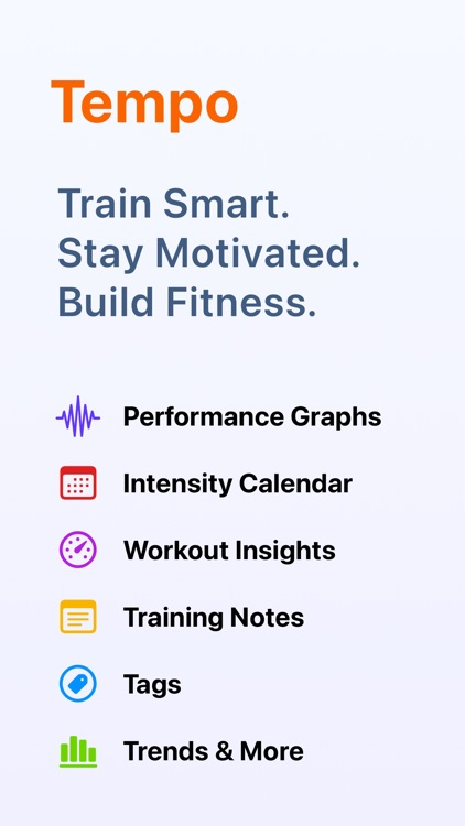 Tempo – Run & Walk Workout Log screenshot-0
