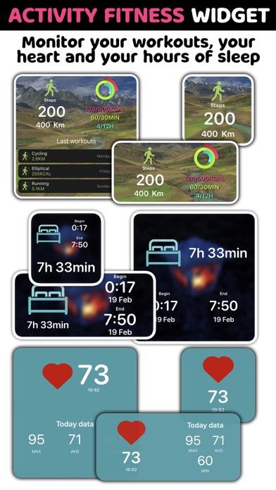 Activity Fitness Widgets screenshot 1