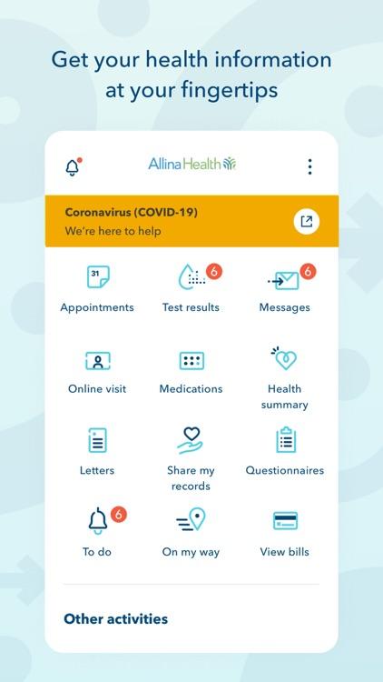 Allina Health account