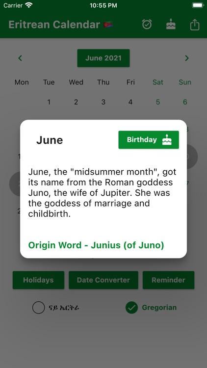 Eritrean Calendar - Tigrinya screenshot-9
