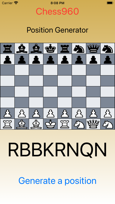 Chess960 - Generate Position screenshot 3