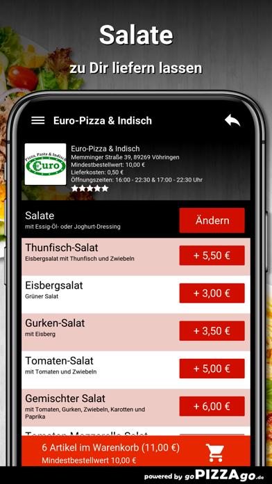 Euro-Pizza & Indisch Vöhringen screenshot 5