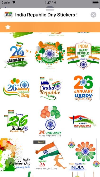 India Republic Day Stickers ! screenshot-4