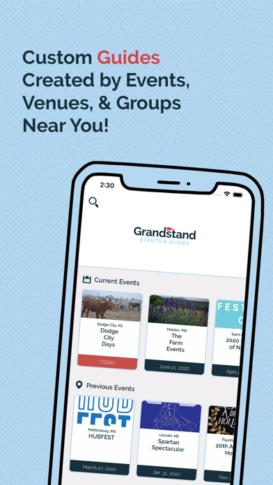 messages.download Grandstand - Events & Guides software