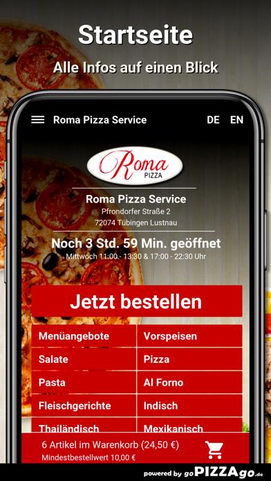 Roma Pizza Tübingen Lustnau screenshot 2