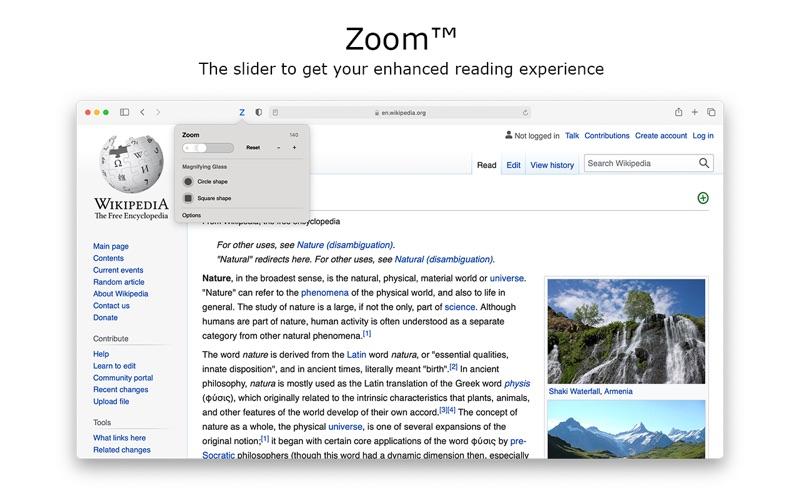 Zoom for Safari скриншот программы 2