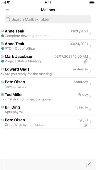 Screenshot #1 pour GW Mailbox