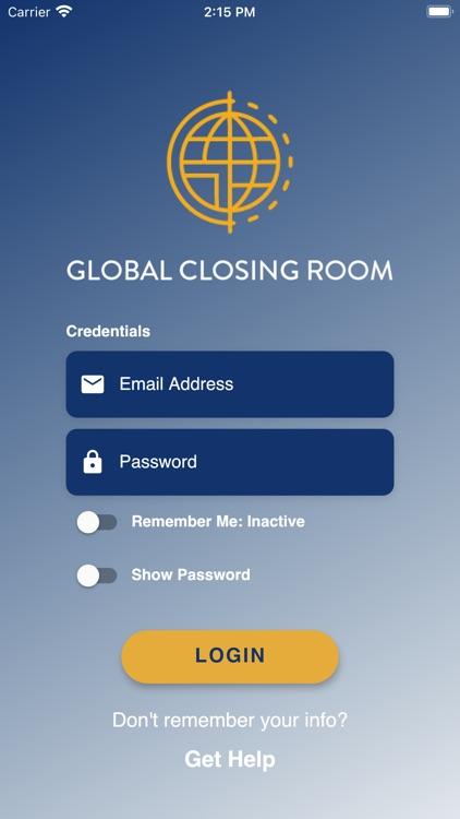 Global Closing Room