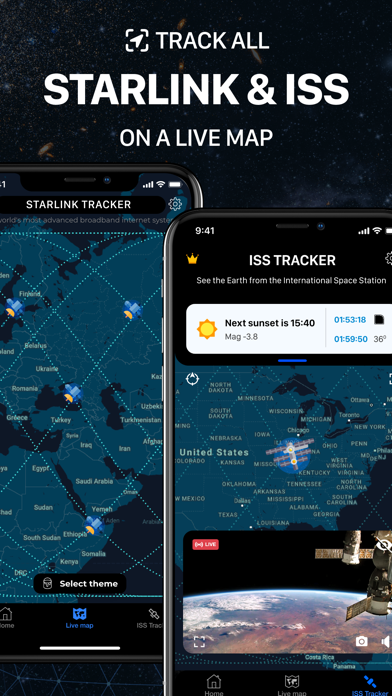 Starlink & ISS Nasa Tracker Screenshot