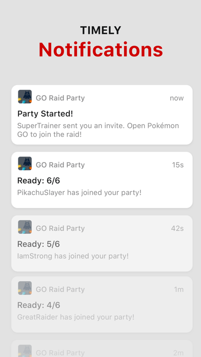 GO Raid Party Screenshot