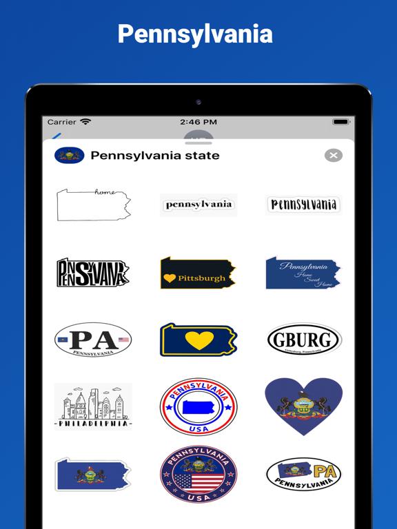 Pennsylvania state - USA emoji screenshot 3