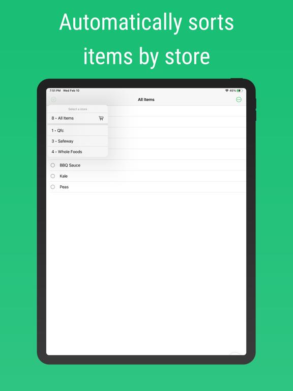 Shared Grocery: Shopping List screenshot