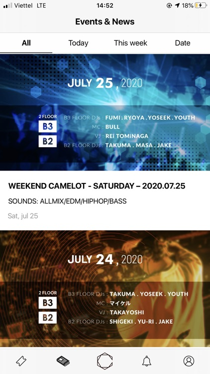 CAMELOT club ticket booking