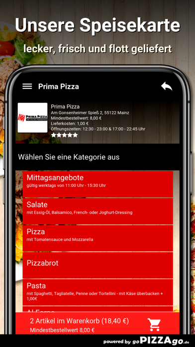 Prima Pizza Mainz screenshot 6