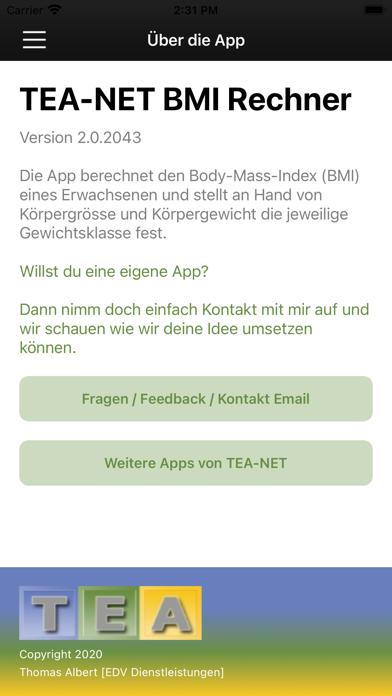 TEA-NET BMI RechnerScreenshot von 5
