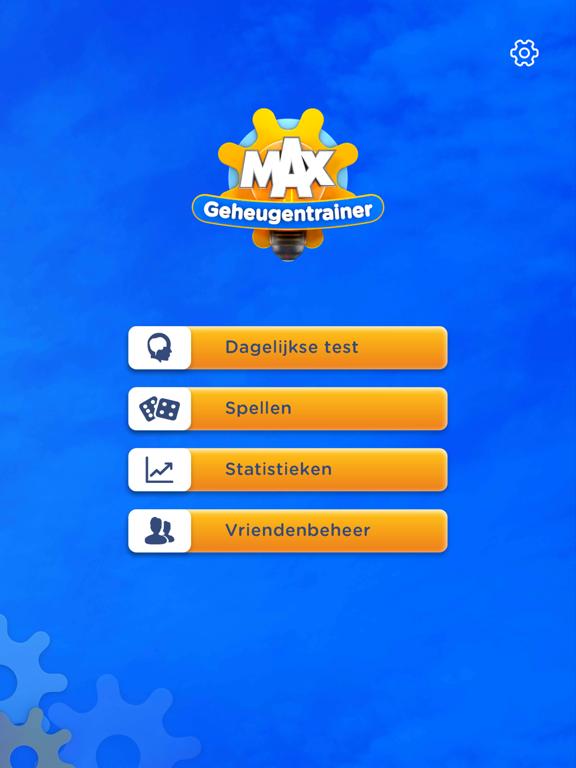 MAX Geheugentrainer iPad app afbeelding 1