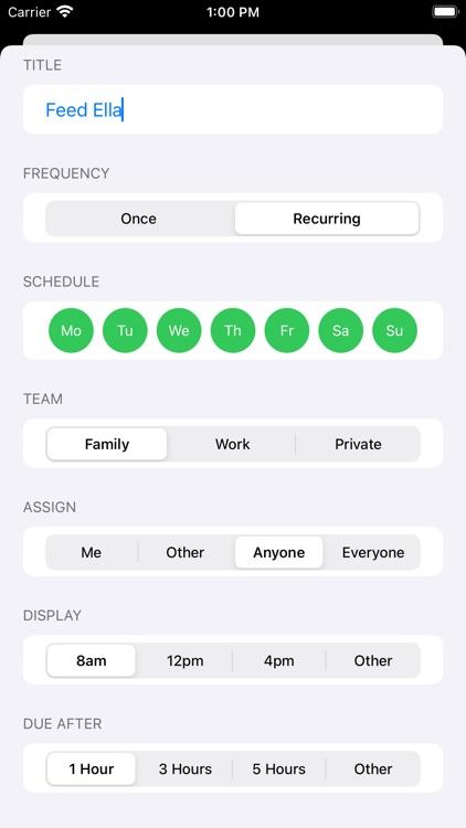 Dreamteam - Tasks & Habits