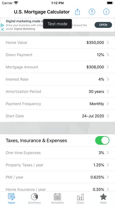 U.S. Mortgage CalculatorScreenshot of 1