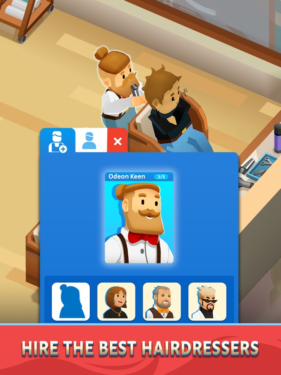 Idle Barber Shop Tycoon - Game iPad app afbeelding 2
