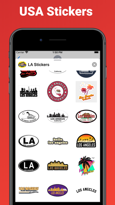 Los Angeles city USA stickers screenshot 2