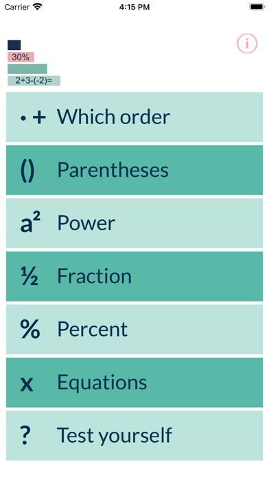 Basic algebra Screenshot