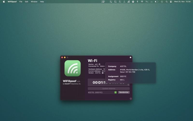 WiFiSpoof Screenshot