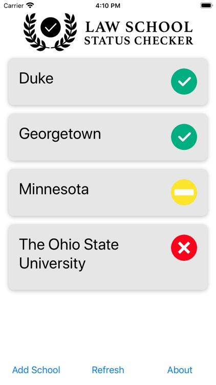Law School Status Checker