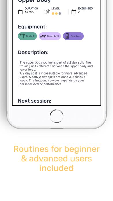 SimpleGym: Fitness AppScreenshot von 4